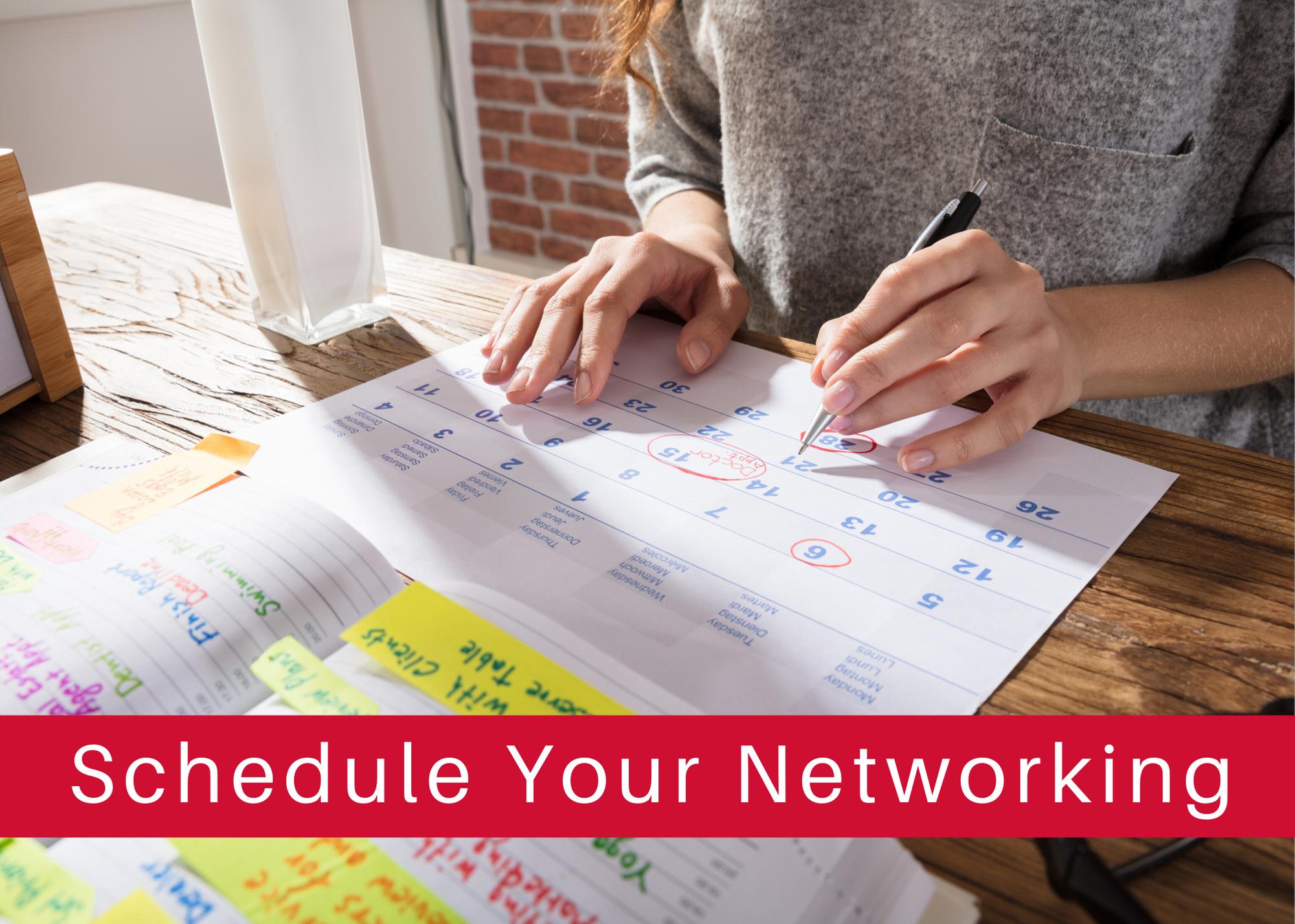 Schedule Your Networking - Calendar