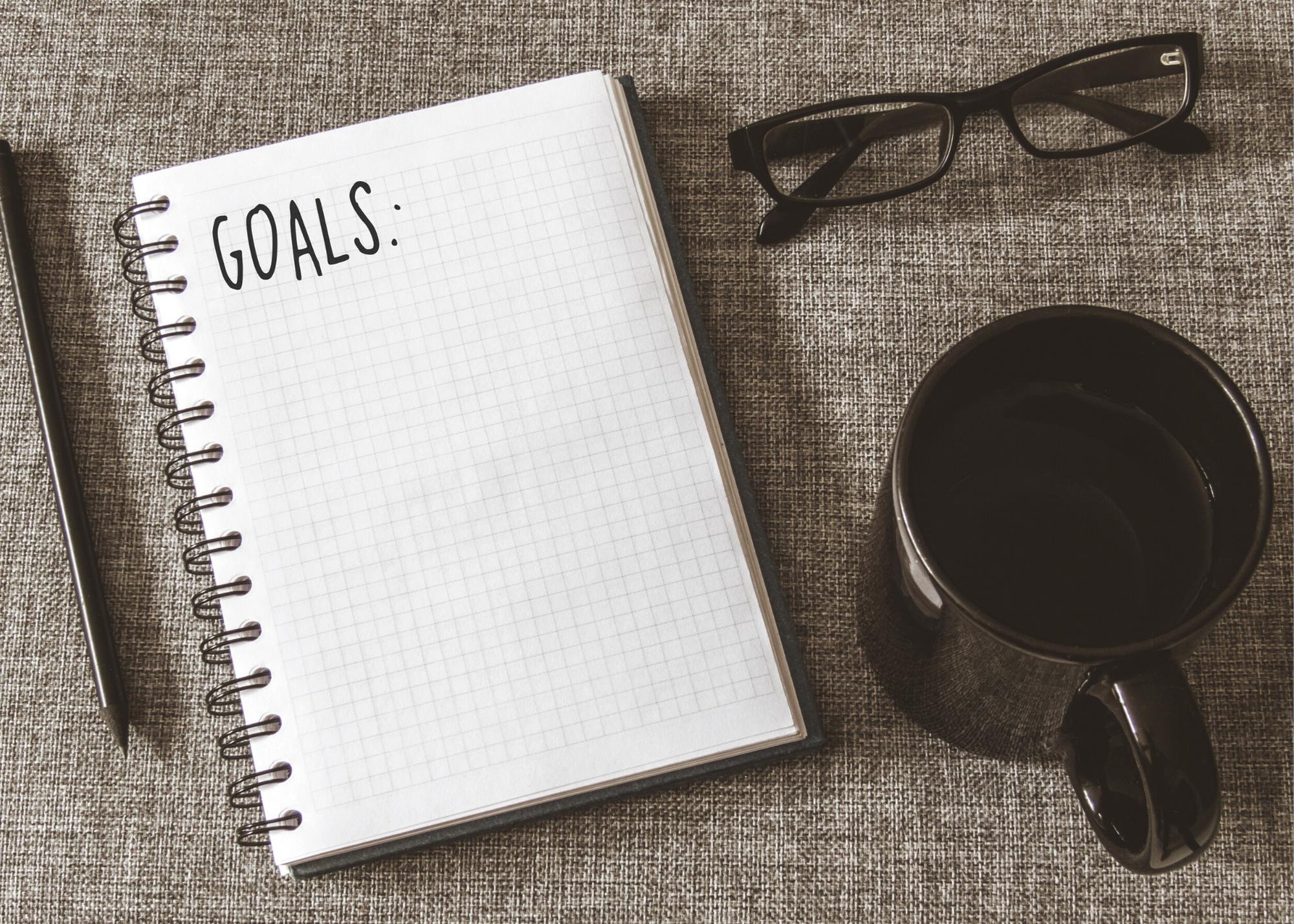 goals - notepad