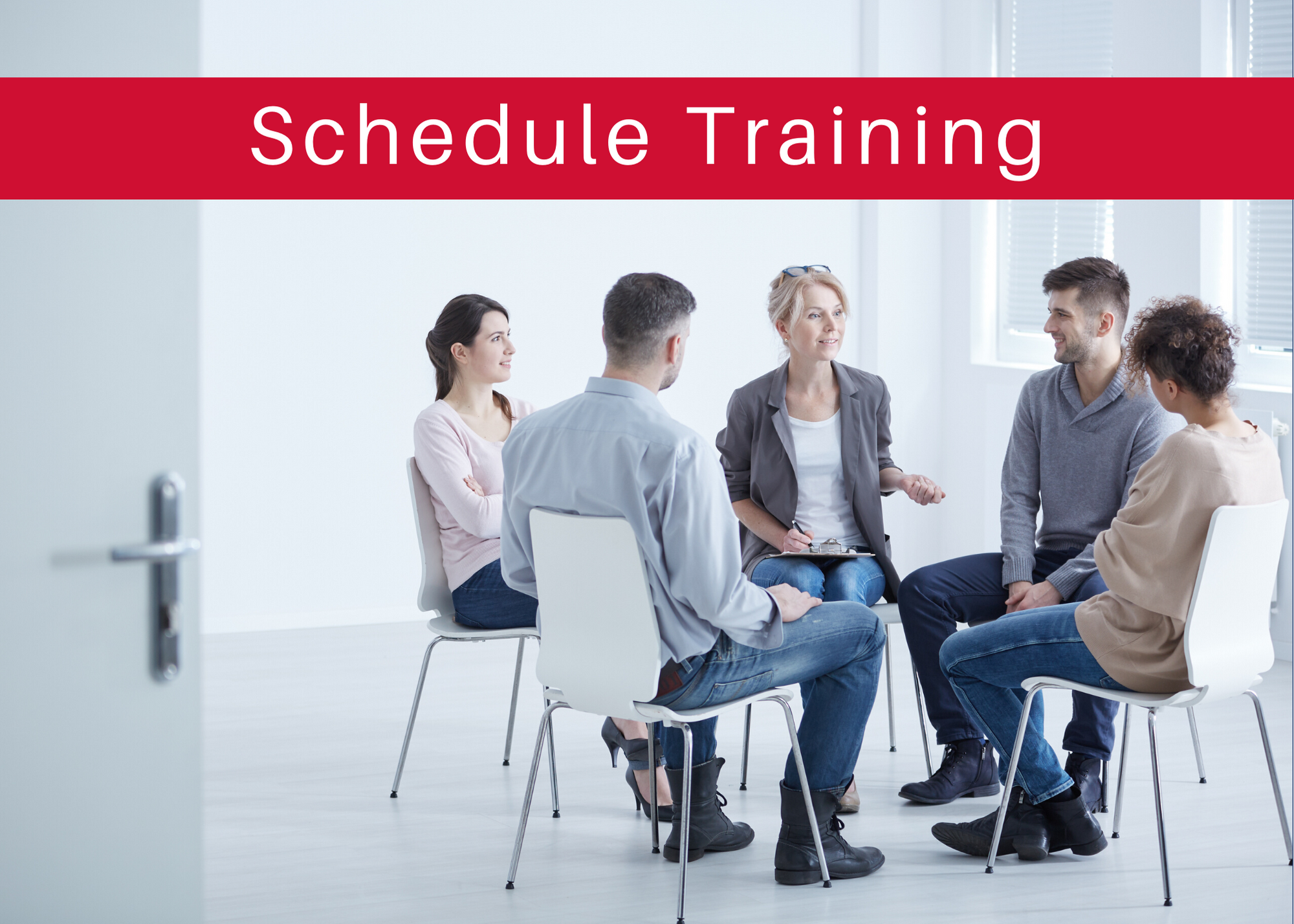 Schedule training - people sitting and talking